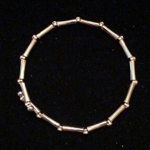 Merx Jewelry - Merx Gold Bamboo Shape Bracelet